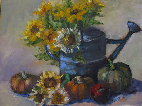The Blue Watering Can by Sharon Franke