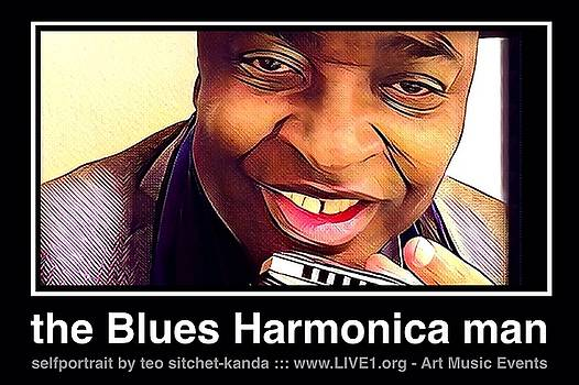the Blues Harmonica man by Teo SITCHET-KANDA