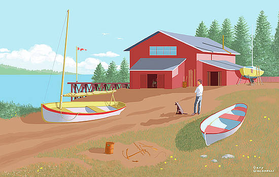 The Boat Shop by Gary Giacomelli