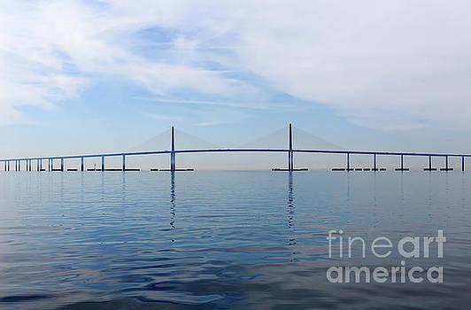 The Bob Graham Sunshine Skyway Bridge Tampa Bay by Louise Heusinkveld