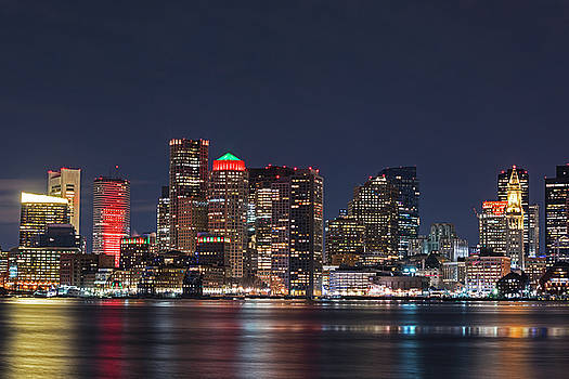 Toby McGuire - The Boston Skyline lit up for Christmas