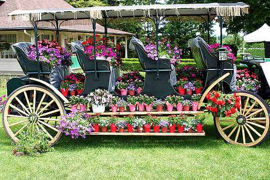 The Botanica Floral Wagon display by Reni Boisvert