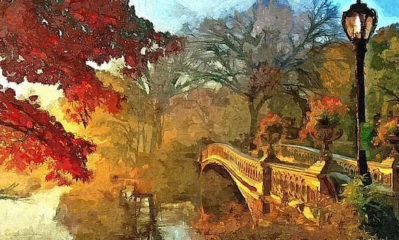 The Bow Bridge NYC  by Maciek Froncisz