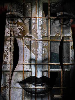 The bride behind the old window by Gabi Hampe