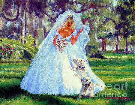 Candace Lovely - The Bride with her Westies