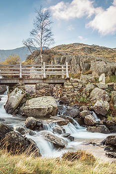 The Bridge Across Rhaeadr Idwal, Snowdonia - North Wales by Christine Smart