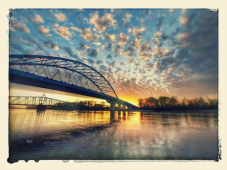 the bridge and Missouri river by Dustin Soph