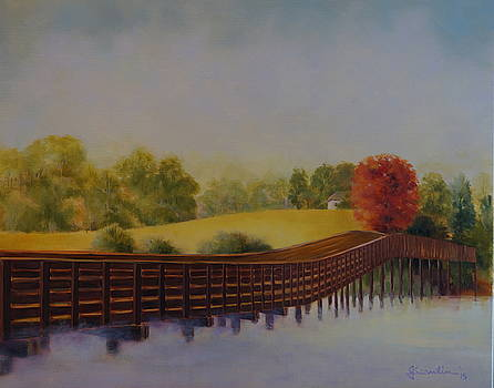 The Bridge at Cuscowilla by Jean Scanlin Wright