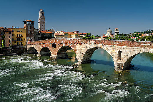 The bridge of Verona by Livio Ferrari