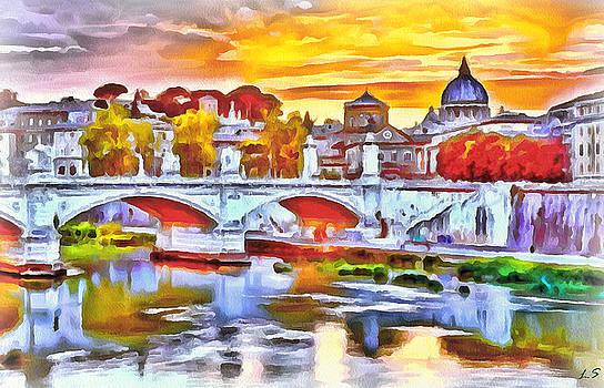 The bridge of Vittorio Emmanuel II in Rome by Sergey Lukashin