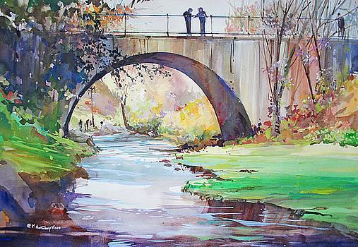 The Bridge Over Brewster Garden by P Anthony Visco