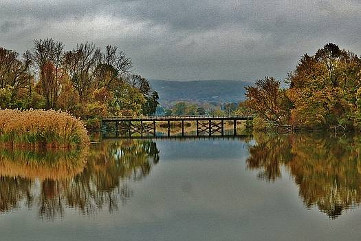 The Bridge Reflected Fall by Thomas McGuire