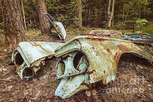 The broken Scrap Car by Martin Bergsma