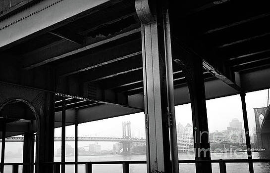 The Brooklyng Bridge and Manhattan Bridge from FDR Drive by PorqueNo Studios