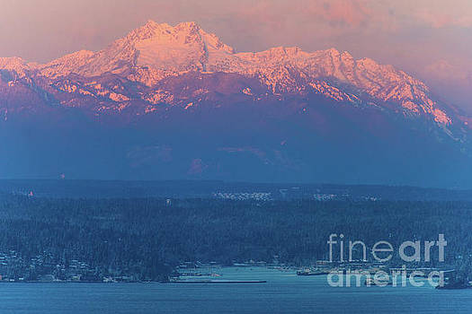 The Brothers Alpenlgow Sunrise Above Eagle Harbor by Mike Reid