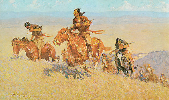Frederic Remington - The Buffalo Runners Big Horn Basin