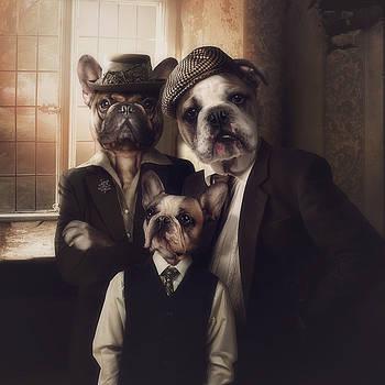 The bulldog family by Cindy Grundsten