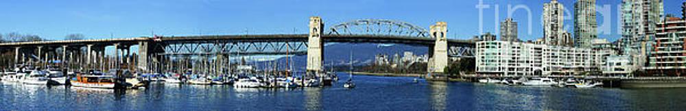 The Burrard St. Bridge Panoramic by Randy Harris
