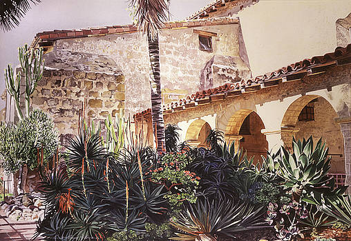 David Lloyd Glover - The Cactus Courtyard - Mission Santa Barbara