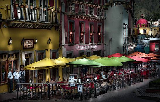 The Cafe at Night by Barry Weiss