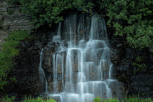 The Cascading Waterfall by William Freebilly photography