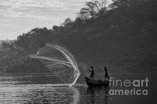 The catch for survival by Kiran Joshi