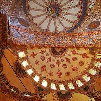The Ceiling Inside The Blue Mosque In by Dante Harker