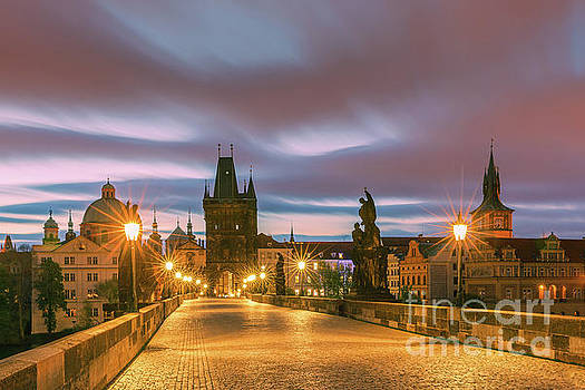 The Charles Bridge in Prague at sunrise by Henk Meijer Photography