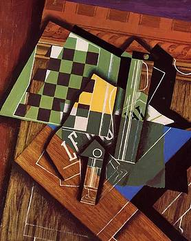 The Checkerboard 1915 by Gris Juan