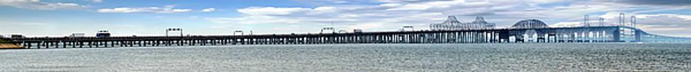 The Chesapeake Bay Bridge Pano by Brian Wallace
