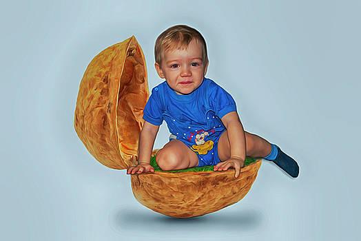 The Child Sits In A Nutshell by Tatiana Tyumeneva