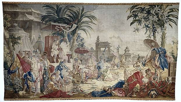 Textile tapestry The Chinese Market  Manufacture Royale de Beauvais 1767  1769 by R Muirhead Art