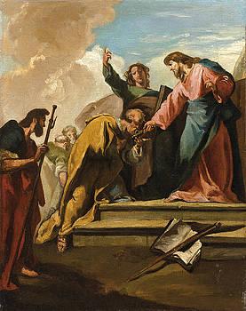 Giambattista Pittoni - The Christ and Saint Peter