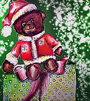 The Christmas Bear helper by Crystal Webb