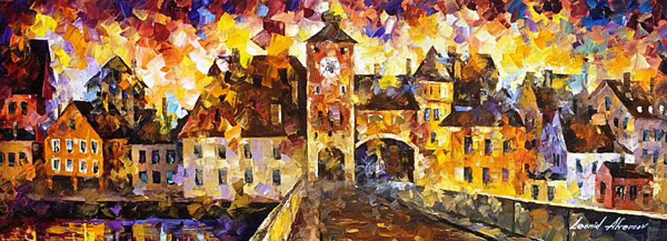 The City Of Hidden Dreams - PALETTE KNIFE Oil Painting On Canvas By Leonid Afremov by Leonid Afremov