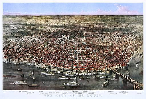 The City of St. Louis, 1874 by Vintage Printery