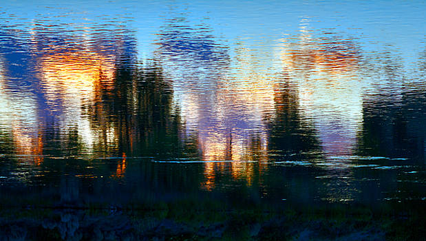 Daniel Furon - Upside-Down River Sunset Reflection of the City