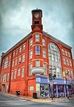 The Clock Tower - Historic Staunton Virginia by Kerri Farley