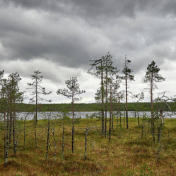 The clouds coming. Pieni Koirajarvi by Jouko Lehto
