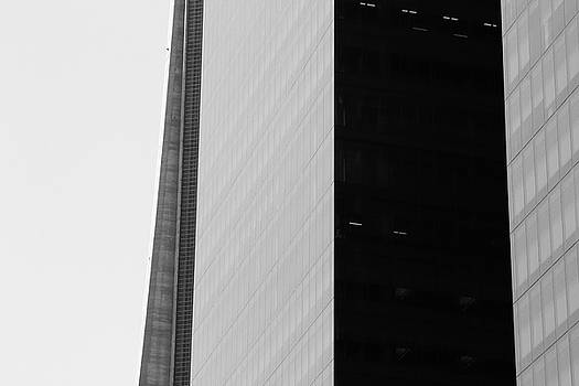 Kreddible Trout - the CN tower black and white