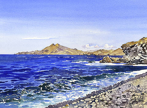 The Coast From Cala Del Carnaje by Margaret Merry