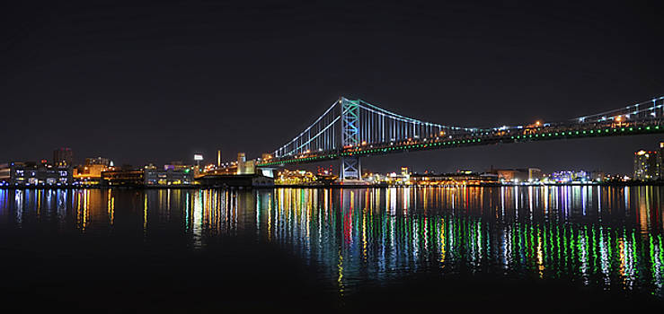 The Colorful Benjamin Franklin Bridge by Bill Cannon