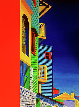 The Colors and Shapes of La Boca  by JoeRay Kelley