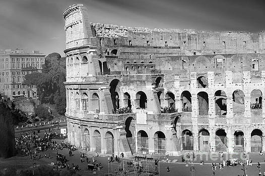 The Colosseum black and white by Stefano Senise by Stefano Senise