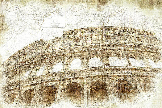The Colosseum Rome Digital Art by Ann Garrett