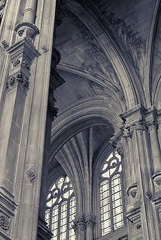 The Columns of Saint-Eustache, Paris, France. by Richard Goodrich