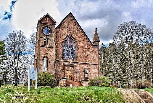 The Congregational Church  Of Northford, CT by MaryLee Parker