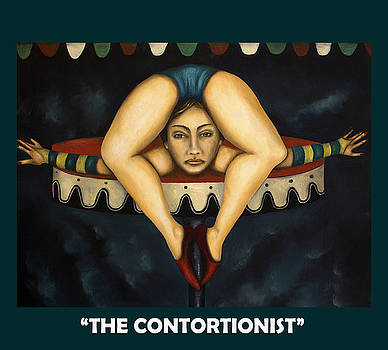 Leah Saulnier The Painting Maniac - The Contortionist with Lettering