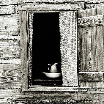 The Cottage Window - Sepia by Scott Pellegrin