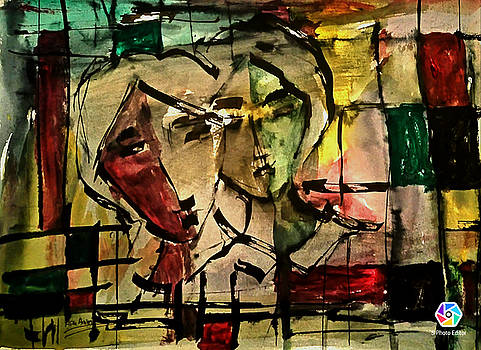 The Couple in Abstract 2 by Asm Ambia Biplob